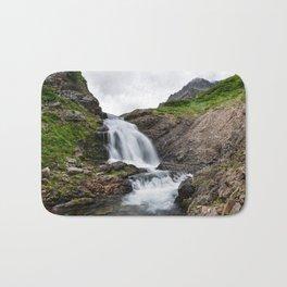 Summer landscape - beautiful mountain waterfall Bath Mat
