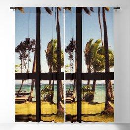Tropical Fiji Beach Scene Blackout Curtain
