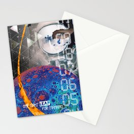 Giant Leap collage Stationery Cards