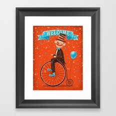 Penny-farthings circus Framed Art Print