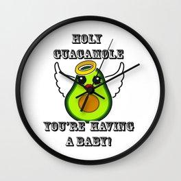 Holy Guacamole You're having a baby Wall Clock