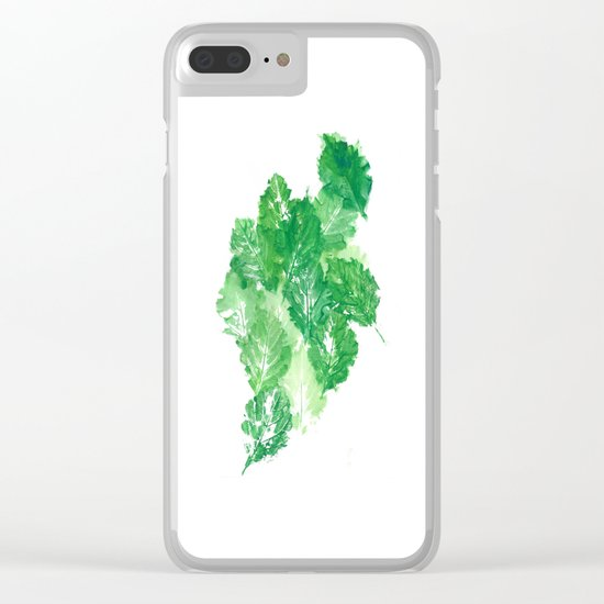 Leaves Dynamics Clear iPhone Case