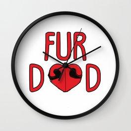 Fur Dad Wall Clock