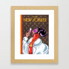 New Yorker Cover: Illuminati  Framed Art Print