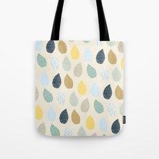 rain drops pattern Tote Bag