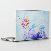 fairy tale Laptop & iPad Skins featuring Fairy Tale by Maria Lozano - Art