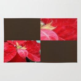 Mottled Red Poinsettia 2 Blank Q3F0 Rug