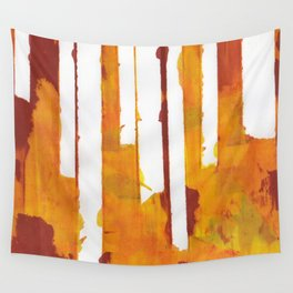 Stripes and Patches Wall Tapestry