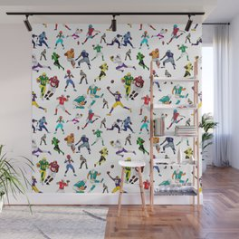 Football Players Wall Mural
