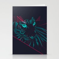 zodiac Stationery Cards featuring Zodiac Tiger by Schwebewesen • Romina Lutz
