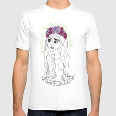 flowers in my head Mens Fitted Tee White MEDIUM