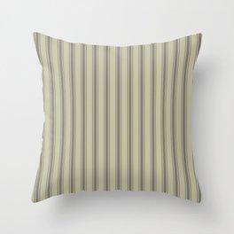 Brown vertical ticking stripes Throw Pillow