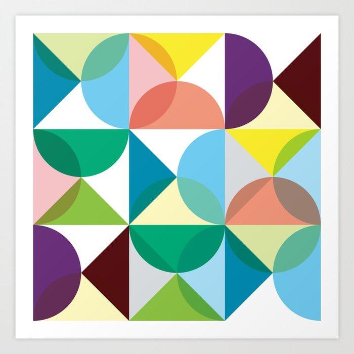 Geometric Pattern #3 Art Print