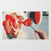 eugenia loli Area & Throw Rugs featuring 350 Fahrenheit by Eugenia Loli