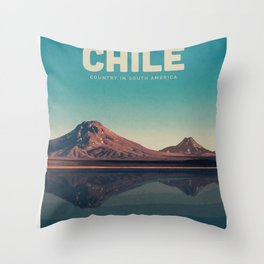 Visit Chile Throw Pillow