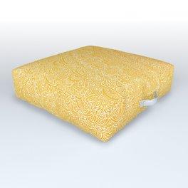 The Most Detailed Intricate Mandala (Mustard Yellow) Maze Zentangle Hand Drawn Popular Trending Outdoor Floor Cushion
