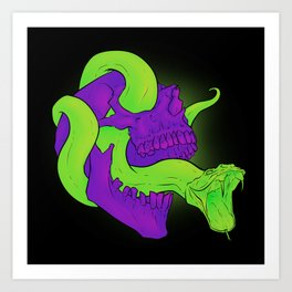 Neon Death Art Print