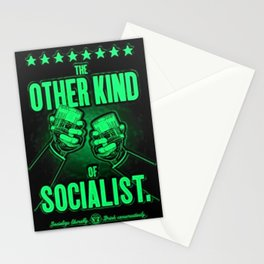 """Vintage """"The Other Kind of Socialist"""" Alcoholic Lithograph Advertisement in bright green Stationery Cards"""