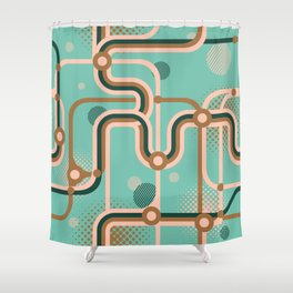 Metro Map. Shower Curtain