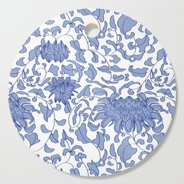 Chinoiserie Vines in Delft Blue + White Cutting Board