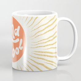 Solar 'Kind is Cool' - peach & gold #positiveart Coffee Mug