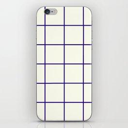 Window Panes, Navy and Cream iPhone Skin
