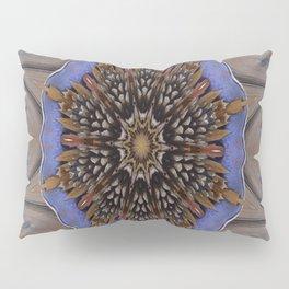 Blue Brown Kaleidoscope Retro Groovy Image Pillow Sham