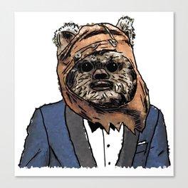 Ewok In A Suit Print Canvas Print