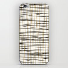 Line Art-Gold and Black Lines on White-Mix and Match with Simplicty of Life iPhone Skin