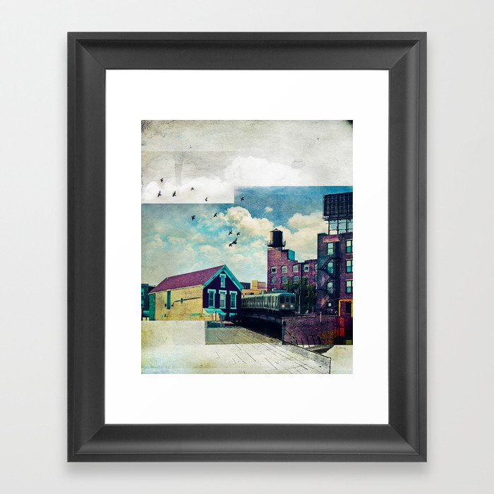 The Rooftop #4 Framed Art Print
