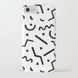 Memphis pattern iPhone Case
