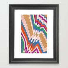wonky chevron Framed Art Print