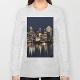 Moon Rise Over Pittsburgh Long Sleeve T-shirt