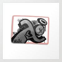 sticker Art Prints featuring Sticker Society by MelonJames