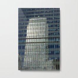 Canary Wharf London Reflection Metal Print