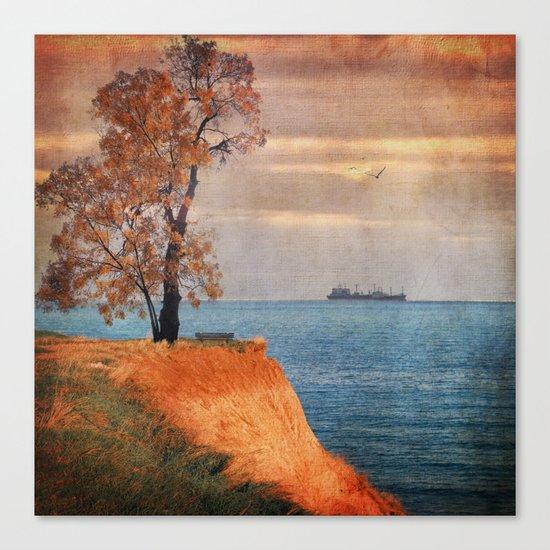 Autumn by the sea Canvas Print