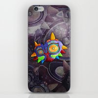 majoras mask iPhone & iPod Skins featuring The Lost Mask by Sergio A.M.