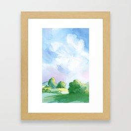 Landscape watercolor Framed Art Print