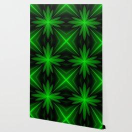 Neon Green Flower Fractal Wallpaper