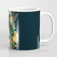 hobbit Mugs featuring The Hobbit by anggatantama