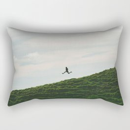MAN - RUNNING - DOWNHILL Rectangular Pillow