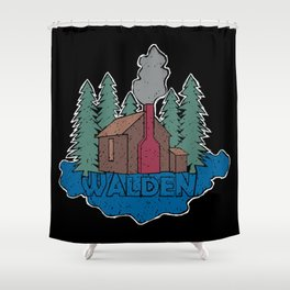 Walden - Henry David Thoreau (Coloured textured version) #society6 #decor #buyart Shower Curtain