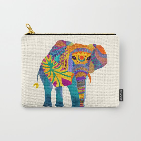 Whimsical Elephant Carry-All Pouch