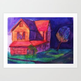 Neon Dream House Art Print
