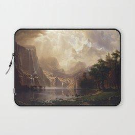 Albert Bierstadt - Among the Sierra Nevada, California Laptop Sleeve