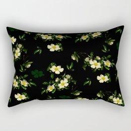 Cherokee White Roses Rectangular Pillow