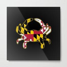 Maryland Flag Crab Metal Print