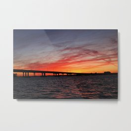 An Evening on the Caloosahatchee I Metal Print