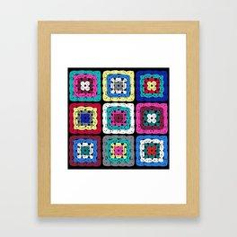 Granny Square Framed Art Print