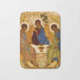 Holy Trinity Icon Byzantine Orthodox Rublev Holy Angels Christmas Gift Bath Mat